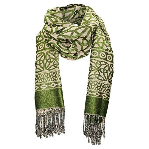 Patterns Trinity (Women's Trinity Knot Fashion Scarf - Hand Tied Fringes - 28