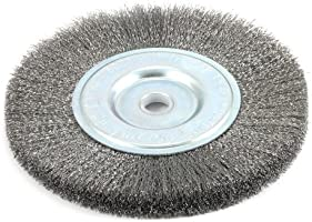 Forney 72747 Wire Bench Wheel Brush Fine Crimped With 1//2-Inch And 5//8-Inch...