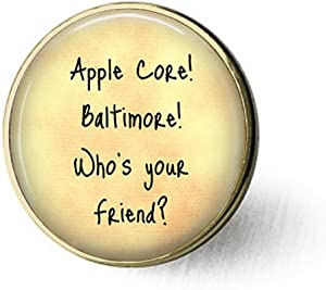 Friend Jewelry - Apple Core! Baltimore - Gift for Friend - Friend Brooch - Friendship Brooch- Funny Friend Gift