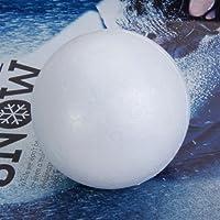Prettyia 10pcs Spheres Ball Modelling Styrofoam Foam Balls Party Decoration Craft 8cm