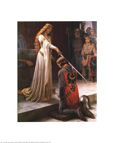The Accolade by Edmund Blair Leighton - 16x20 Inches - Art Print Poster (Accolade Poster Print)