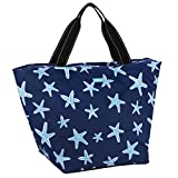 SCOUT Weekender Travel Tote Carry On Bag, Internal Zippered Pouch, Water Resistant, Zips Closed, Fish Upon a Star