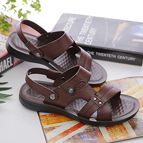 Estate I sandali dei nuovi uomini I sandali massimi morbidi del massaggio Fashion, Brown, UK = 6, EU = 39