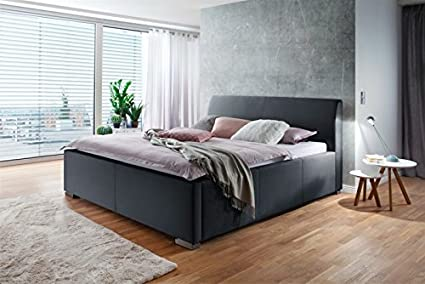 Meise cama con somier tapizada (con funda de tela L Cabecero ...