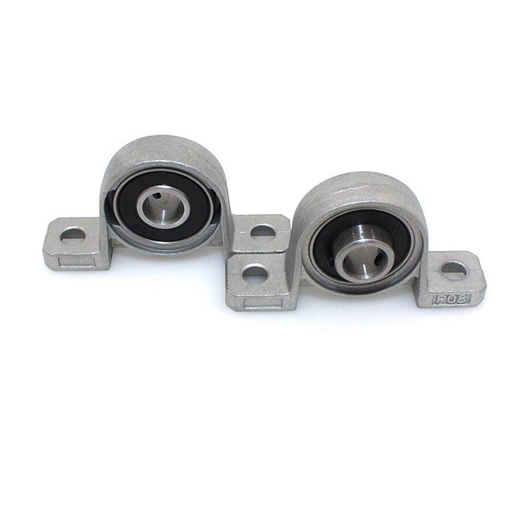 Coupler Pillow Bearing Block for 3D Printer BIQU Equipment T8 8mm Lead Screw Set Lead Screw 330mm+ Copper Nut 330mm Lead Screw Set