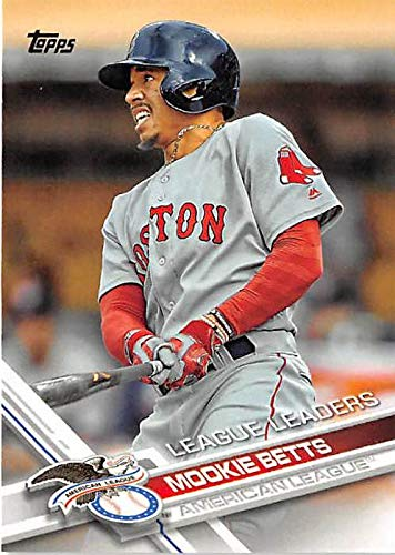 Mookie Betts Baseball Card 2017 Topps 242 League Leaders Boston