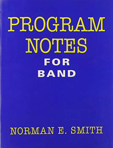 band program notes Compositions for concert band  uses only the first six notes of the bb major scale making  feast of the kings will add a festive spirit to any program.