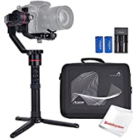 Accsoon A1 3-Axis Handheld Gimbal Stabilizer 15hours Runtime Auto-tuning Dual IMU for Mirrorless DSLR Sony ILCE/A Series Canon EOS Panasonic LUMIX Nikon D Weighing up to 6.61lb