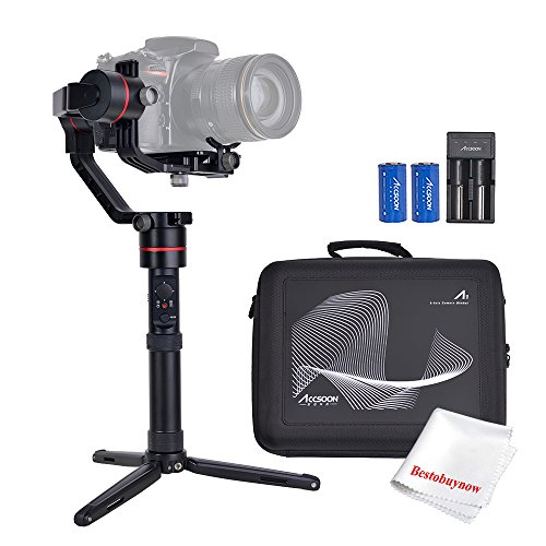 Accsoon A1 3-Axis Handheld Gimbal Stabilizer 15hours Runtime Auto-tuning Dual IMU for Mirrorless DSLR Sony ILCE/A Canon EOS Panasonic LUMIX Nikon D Weighing up to 5.51lb by Accsoon