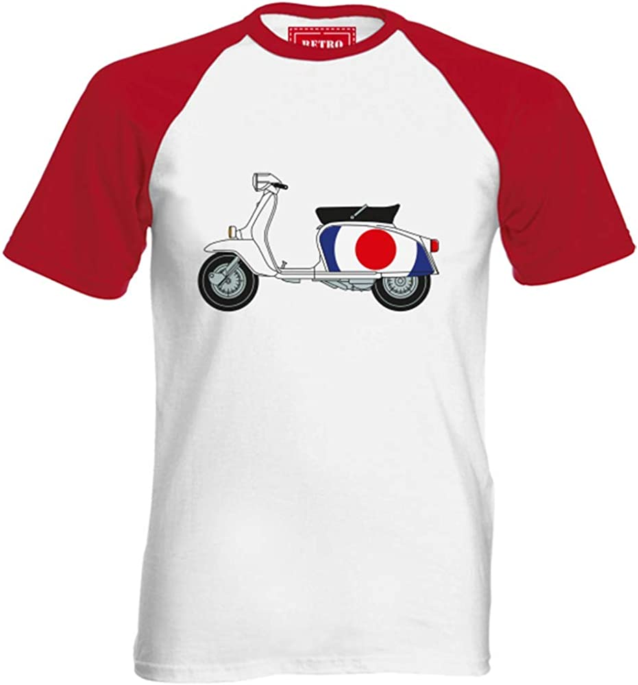 Lambretta para Hombre de béisbol Mod de Objetivo para Tiro con T-Camiseta de Manga Corta - Quadrophenia Scooters Vespa The Who Color: Amazon.es: Ropa y accesorios