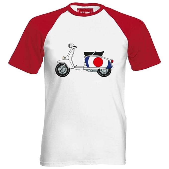 Lambretta para hombre de béisbol Mod de objetivo para tiro con T-camiseta de manga