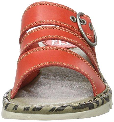 FLYA4|#Fly London Thea724fly, Heels Sandals Para Mujer Rojo (Scarlet 005)