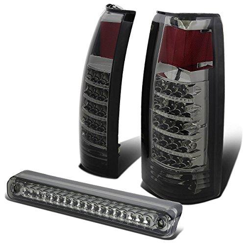 For Chervolet/GMC C10 LED Tail Light (Chrome Smoke Lens)+Third Brake Lamp (Smoke) - 4th Gen GMT400 ()