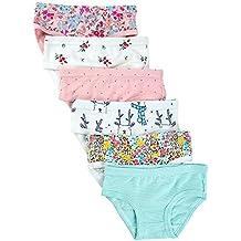 Closecret Kids Series Baby Soft Cotton Panties Little Girls' Assorted Briefs(Pack of 6)