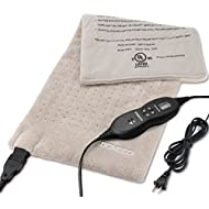 "DONECO King Size XpressHeat Heating Pad (12 x 24"") - Heat Therapy Helps Reduce Muscle Cramps and Soreness - Features 6 Temperature Settings and Adjustable LCD Controller - Machine Washable Microplush"