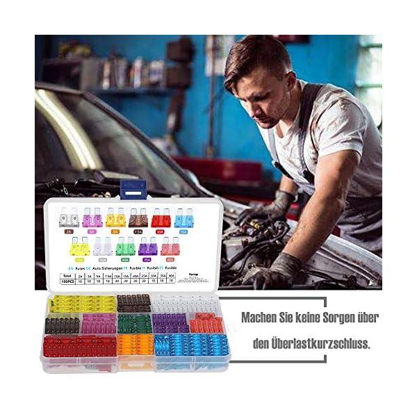 51oymvuHyNL Rovtop 150 Stück Standard Auto Sicherungen KFZ Sicherungen Set maßgebend Autosicherungen 2A 3A 5A 7.5A 10A 15A 20A 25A…