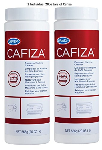 Urnex Cafiza Espresso & Coffee Machine Cleaner Powder 20 Oz. Bottle 2 Pack