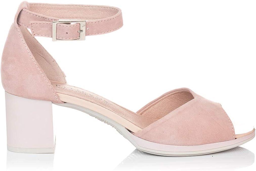PITILLOS 5565 Sandalia Vestir Tacon Medio Mujer: Amazon.es: Zapatos y complementos