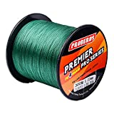 Baikalbass SuperPower Braided Fishing Line 4 Strands Strong Multifilament PE Braid Wire for Saltwater 328Yard/300M 40LB Green