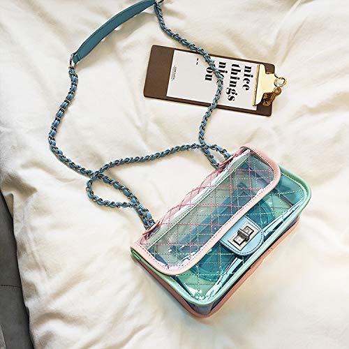 Crossbody Transparent Messenger Épaule Rose Lady Sac De Jelly Lingge Chaîne Sac Pack Bag Mode WSLMHH Sac CdOvwqv