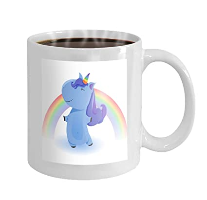 77075ac18 Amazon.com | 11 oz Coffee Mug cute magical unicorn design isolated white  background print sticker romantic hand drawing Novelty Ceramic Gifts Tea  Cup: ...