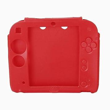 Xiton Protector Silicona Funda para Nintendo 2DS-Rojo ...