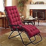 Dingdon Cuscino imbottito per sedia da giardino, terrazza, cuscino materasso per sedia a sdraio reclinabile, schienale… 51oyo6NFt L. SS150