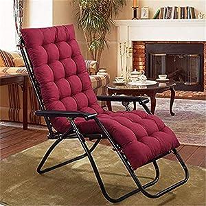 Dingdon Cuscino imbottito per sedia da giardino, terrazza, cuscino materasso per sedia a sdraio reclinabile, schienale… 51oyo6NFt L. SS300