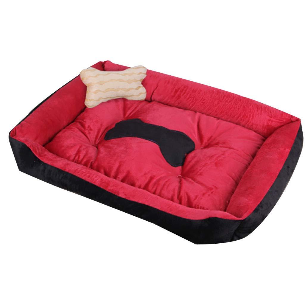 暖かいX ペット用品、ペット用品、ベッド、猫の家、四季、ペットベッド、(コーヒーの色、灰色、赤、青、黒) (色 : 黒, サイズ さいず : XXL) B07NYBW4N3 Red M M|Red
