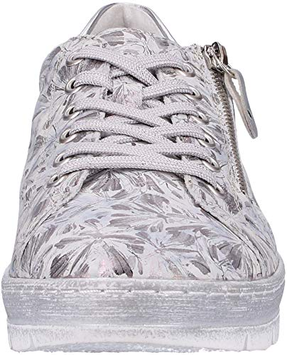Scarpe Donna metallic Da Grigio grau Remonte silver Ginnastica 42 Basse D5800 5wX8pxF