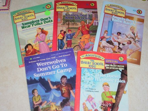 Wear Polka Dots - Bailey School Kids 5 Book Set, Werewolves Don't Go To Summer Camp, Mrs. Claus Doesn't Climb Telephone Poles, Angels Don't Know Karate, Genies Don't Ride Bicycles, Vampires Don't Wear Polka Dots