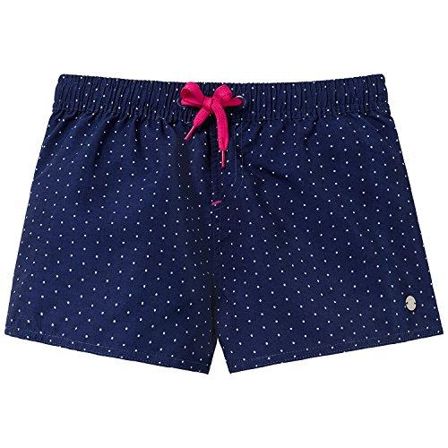 Schiesser Mädchen Badeshorts Beach - Shorts, Gr. 152, Blau (admiral 801)