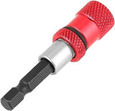 1//4 Inch Hex Shank Screwdriver Bit Holder Stainless Steel Screwdriver Bit Extender Adapter Sleeve Red 3pcs