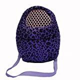 Miss.AJ Miss.AJ Hedgehog Hamster Mouse Outgoing Carrier Bags, Breathable Portable Rat Travel Handbags Backpack with Shoulder Strap … (M, Blue)