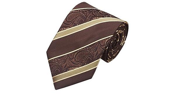 Jason&Vogue - Corbata - Rayas - para hombre marrón marrón ...