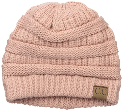 Colorado Chick Women's Slouchy Knit Beanie, India Pink