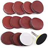 """2 Inch Sanding Discs Pad Kit, 100PCS 60-3000 Grit Sandpaper with 1/4"""" Shank Backing Plate and Soft Foam Buffering Pad, for Drill Grinder Rotary Tool, Hook and Loop Sand Paper Assortment Pack"""
