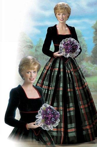 Princess Diana - Princess of Charm Porcelain Doll [in Scottish Plaid Taffeta (Princess Diana Porcelain)