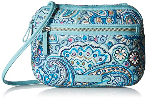 (Vera Bradley womens Iconic RFID Little Crossbody, Signature Cotton, Daisy Dot Paisley, One Size)