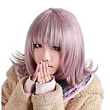 Anogol Purple Short Bob Synthetic Hair Women's Wig