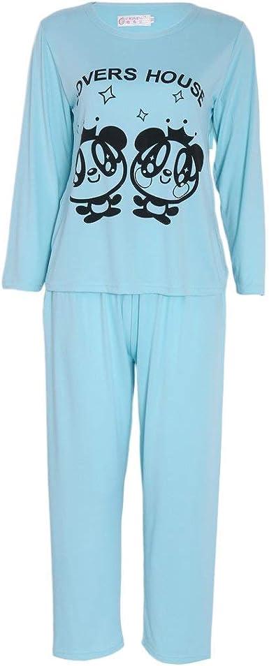 Pijamas De Manga Larga para Mujer Pijama De Ropa Manga Larga ...