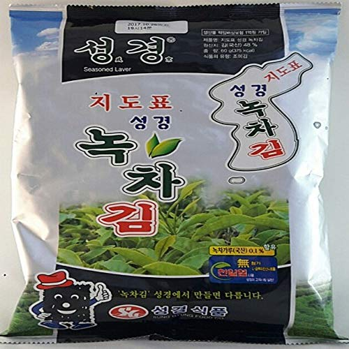 Traditional Type Green Tea Seaweed Laver 60g, Product of Korea by Sung Gyung Food
