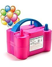 MTKD ® Elektrisk ballonguppblåsare, elektrisk ballongpump. Perfekt för fester och evenemang. Hög effekt 600 W CE-certifikat. Fuchsia färg. UK kontakt