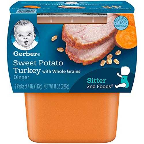 (Gerber 2nd Foods Sweet Potato and Turkey, 7-Ounce (Pack of 8))