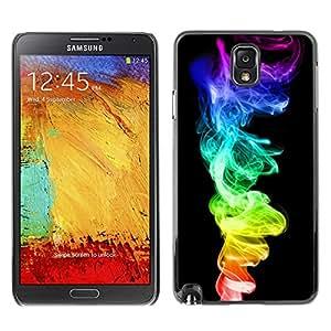 Caucho caso de Shell duro de la cubierta de accesorios de protección BY RAYDREAMMM - Samsung Note 3 N9000 - Colorido humo de color 420 Weed