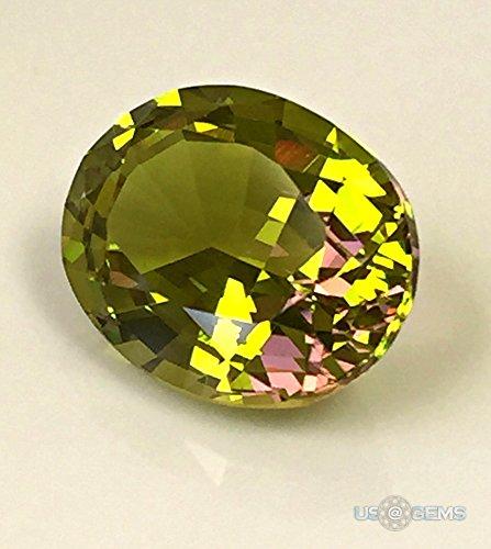 Diaspore #M1536 Bicolor 10x8 mm. 3 ct. Monosital Lab Created Loose Gemstone. US@GEMS