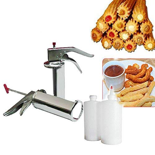 Churreras Churros Filler Maker Machine - 1L Manual Spanish Donuts Dessert Churro Makers (Churros Machine)