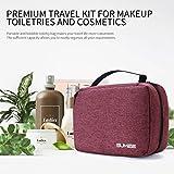 Sumee Toiletry Bag, Cosmetic Makeup Bag, Great Storage, Functional Bags, Large Capacity, Travel, Domestic Use, Storage Bag (Red)
