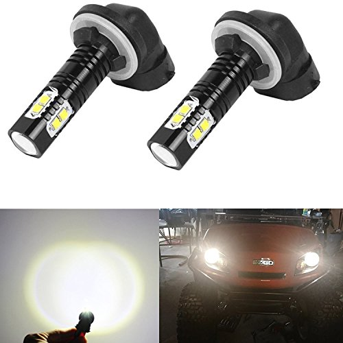 Golf Cart Light halogens Replacement LED Headlight Bulb Kits Fit EZGO (1994-Up) Gas and Electronic, Club Car DS (1999+),(2004+) Precedent Electronic, Nasibo (2 PCS) (white light)