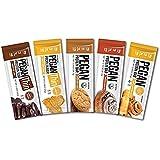 Pegan Thin® Protein Bar (Variety Box) 12 Bars (20g Organic Plant Protein) (2 Net Carbs 1g Sugar) VeganⓋ